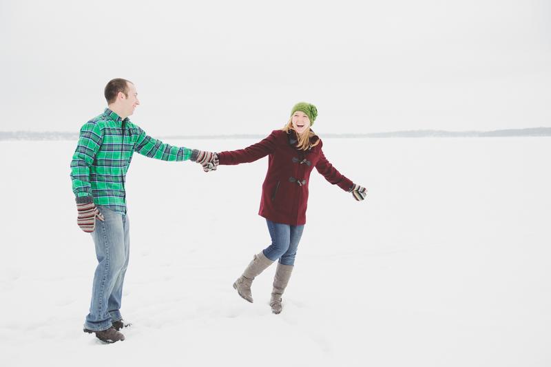 Winter Engagement Shoot Madison WI