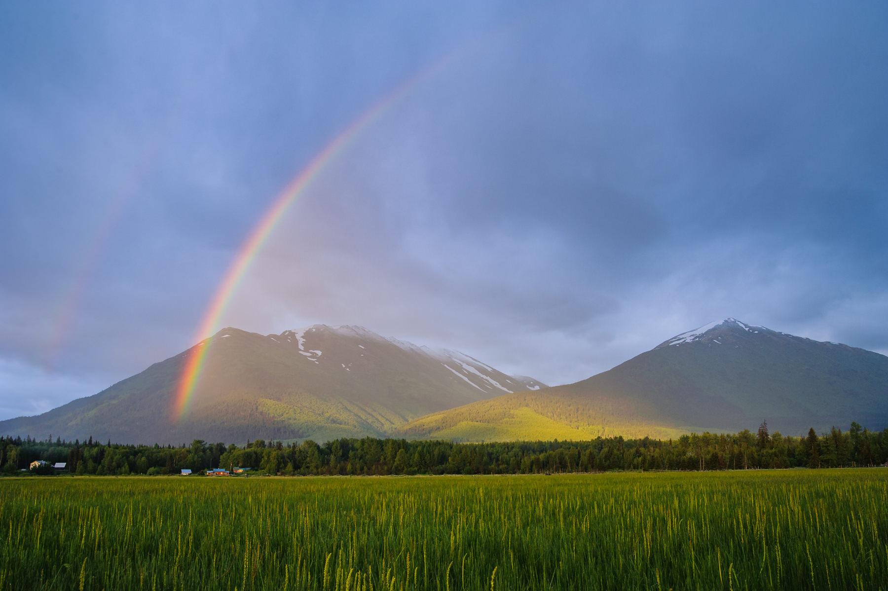 rainbow in hope alaska