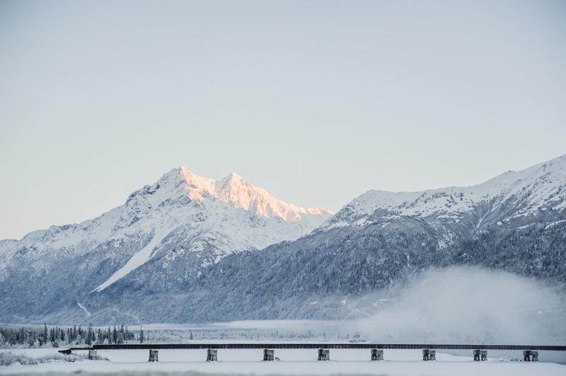 alaska mountain range railroad
