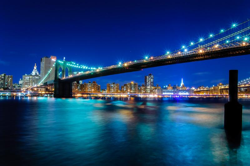 Brooklyn bridge long exposure from brooklyn bridge park