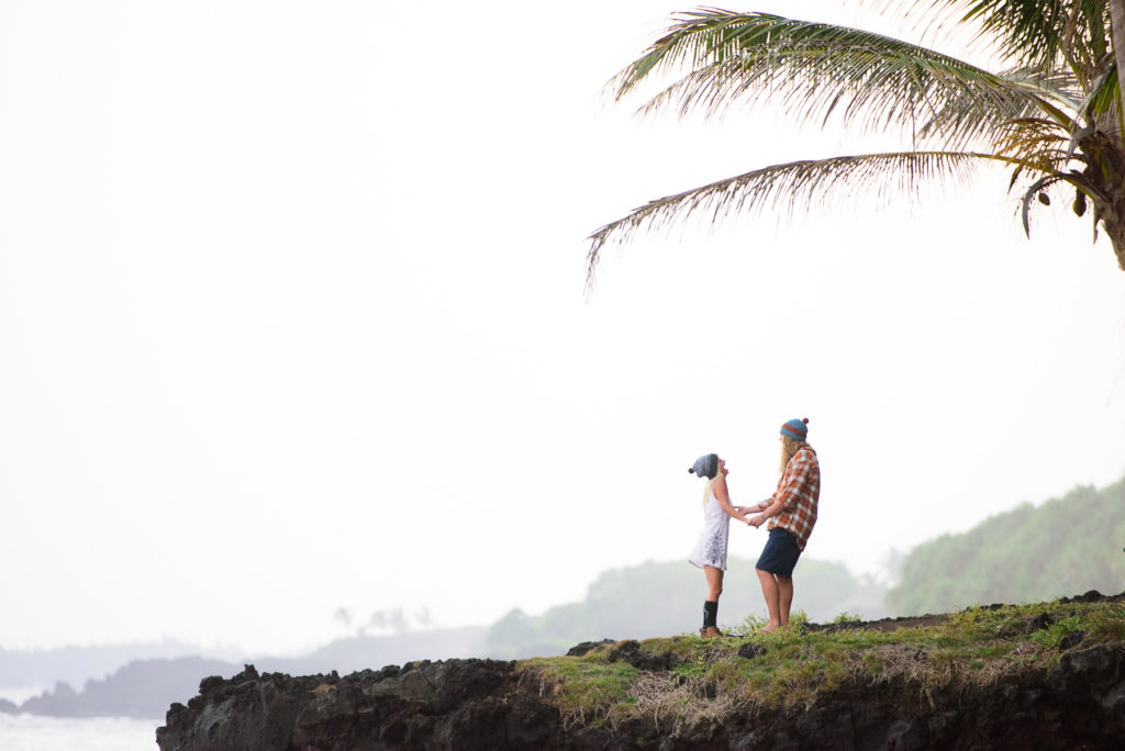 Hawaii Engagement session on the Big Island at Kalani