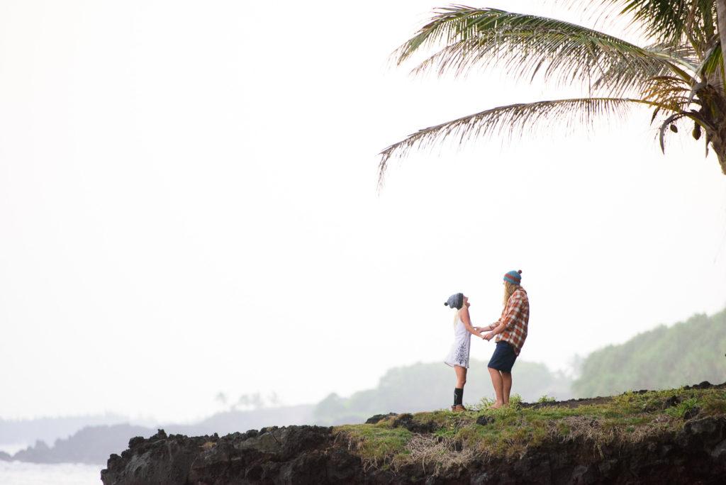 Hawaii Engagement session on the Big Island at Kalani