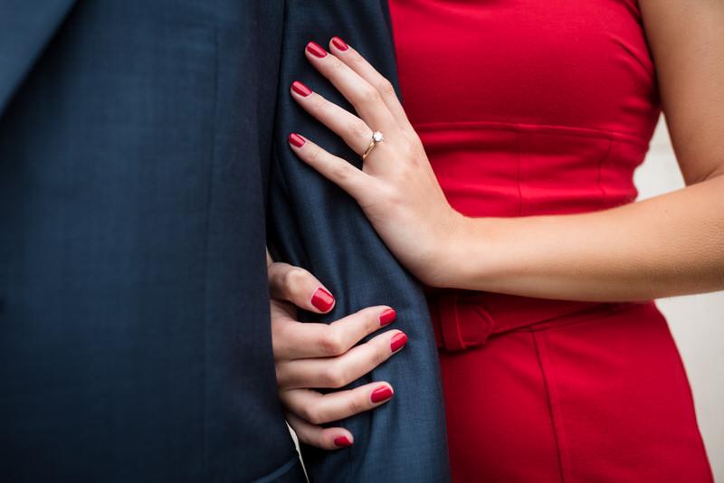 bold red uw madison engagement