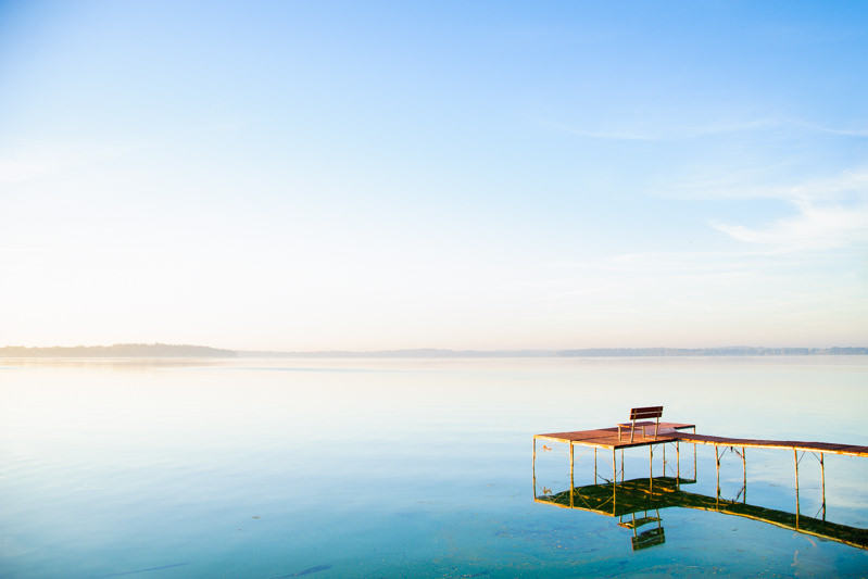 madison Wisconsin sunrise on lake monona