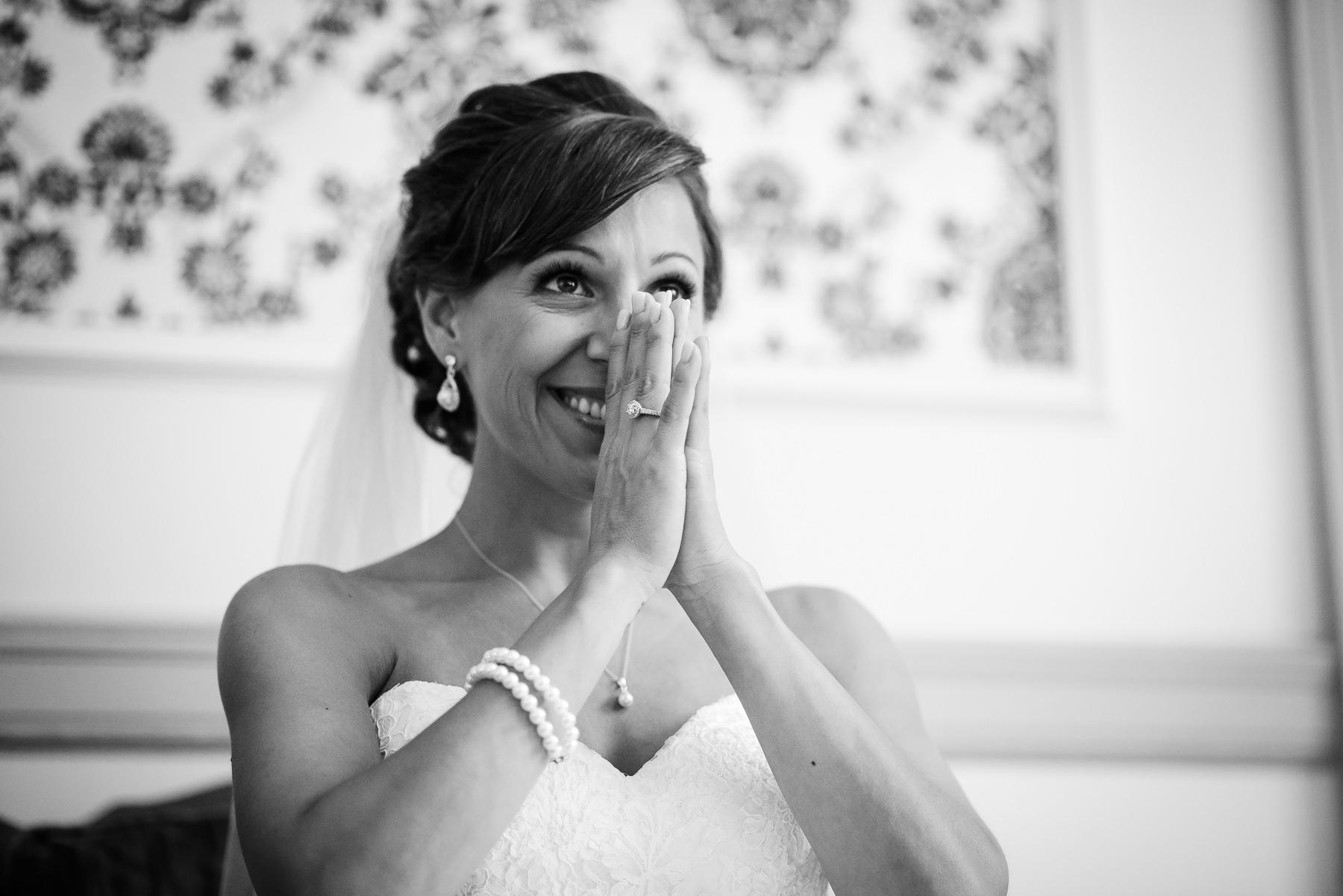 excited bride documentary wedding photographer