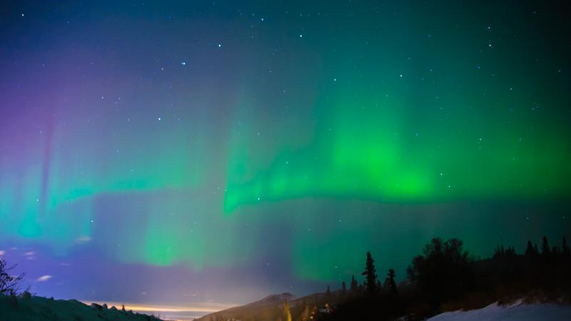 northern lights in anchorage alaska