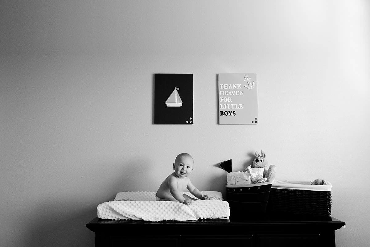 6 month old portrait session in waunakee wisconsin