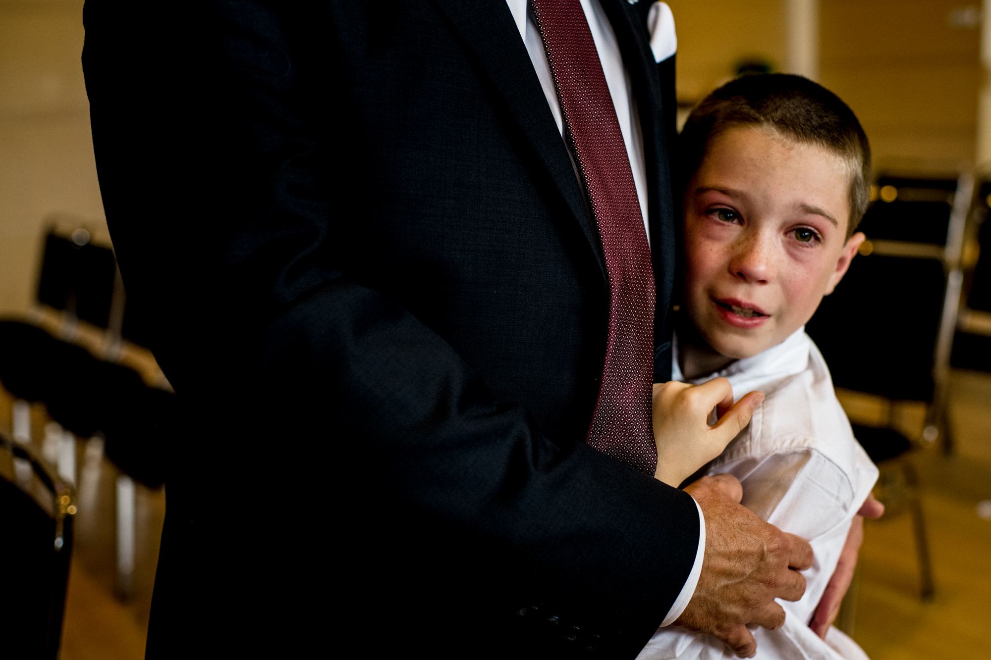 a nephew cries at his aunt's wedding at the overture center